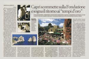 Affari & Finanza e la Fondazione Capri