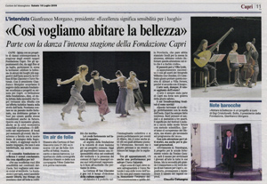 Corriere del mezzoggiorno e la Fondazione Capri