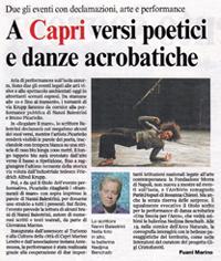 La Fondazione Capri e il Corriere del Mezzogiorno